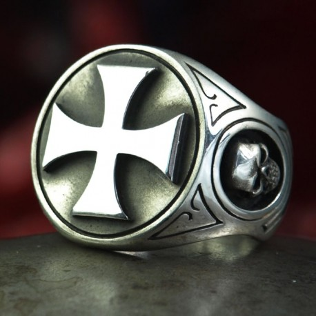 Iron Cross Ring - well-known symbol of the biker subculture as biker ring made of silver. Iron Cross, Biker Jewelry