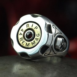 Bullet Ring - Bullet Head - 44 Magnum - Six Shooter - Bullet Jewelry