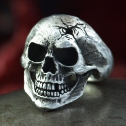 Omega Rotten - classic anatomically correct skull ring with special finish! Biker Ring Biker Jewelry Rocker Jewelry