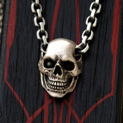 Skull Jewelry, Skull Pendant, Skull Necklace, Biker Jewelery